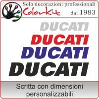 adesivo DUCATI (varie misure)