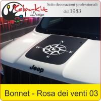Bonnet Jeep Renegade con Rosa dei venti 03