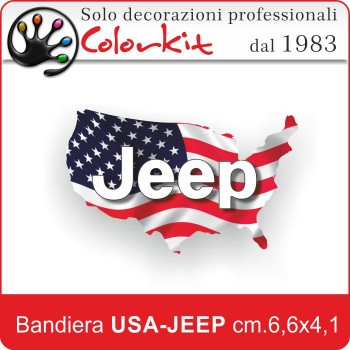 Bandiera USA-JEEP Varie Misure