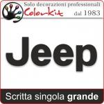 Scritta Jeep varie misure