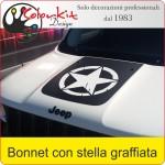 Bonnet Jeep Renegade con stella graffiata