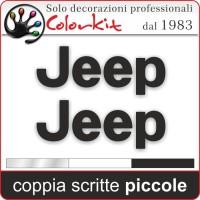 Scritte Jeep piccole (coppia)