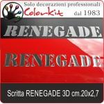 Scritta Renegade 3D cm.20x2,7