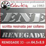 Scritta Renegade 3D cm.64,5x8,9
