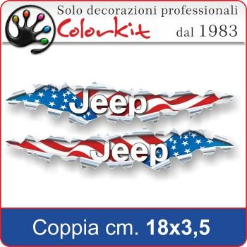 Effetto strappo bandiera Jeep USA cm 18x3,5