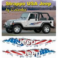 Effetto strappo bandiera Jeep USA (varie misure)