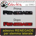 scritta Renegade per stemma laterale (coppia)