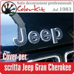 Cover per scritte Jeep Gran Cherokee (coppia)