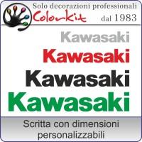adesivo KAWASAKI (varie misure)