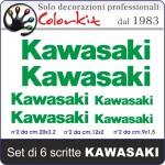 Scritta KAWASAKI 6 pezzi
