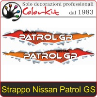 Effetto Strappo Nissan Patrol GR cm. 18x3