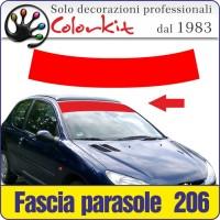 Fascia Parasole per Peugeot 206