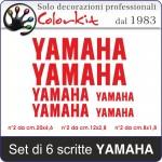 Scritta YAMAHA 6 pezzi