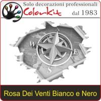 Rosa dei Venti strappo Bianco e Nero (varie misure)