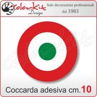 Coccarda adesiva tricolore cm.10