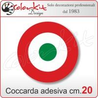 Coccarda adesiva tricolore cm.20