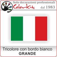 Bandiera Italiana grande con bordo bianco