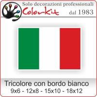 Bandiera Italiana piccola con bordo bianco