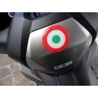 Bandiera Italia tonda 3D cm 3