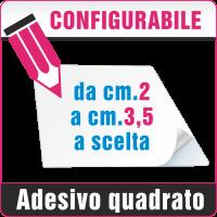 Adesivi quadrati da cm.2 a cm.3,5