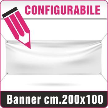 Striscione in PVC cm.200x100