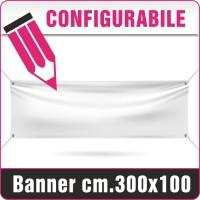 Striscione in PVC cm.300x100