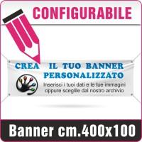 Striscione in PVC cm.400x100