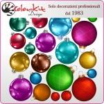 Set di 22 palle di Natale per vetrina