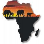 Africa con elefanti