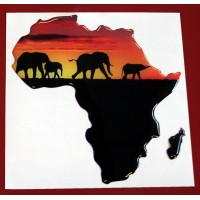 Africa elefanti cm 9x10 3D