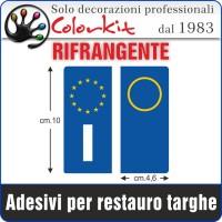 Bandiera europa per targhe auto
