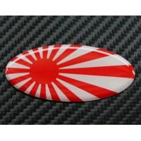Bandiera Giappone Ovale 3D cm 6x3