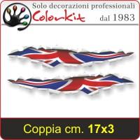 Effetto strappo bandiera inglese cm.17x3,3