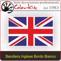 Bandiera Inglese grande con bordo bianco