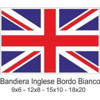 Bandiera inglese piccola con bordo bianco