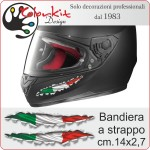 Effetto strappo bandiera Italia 01 cm. 14x2,7