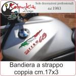 Effetto strappo bandiera Italia cm.17x3