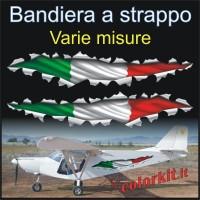 Effetto strappo bandiera Italia 01 cm.30