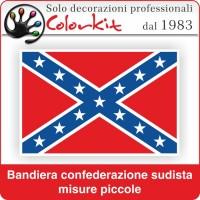 Bandiera sudista piccola con bordo bianco