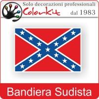 Bandiera sudista grande con bordo bianco