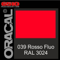Rosso-Fluo 039 Ral 3024 Cast - Oracal 6510