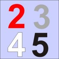 Numeri ARIAL cm. 13