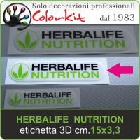 Herbalife Nutrition etichetta 3D cm.15