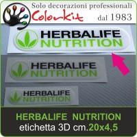 Herbalife Nutrition etichetta 3D cm.20