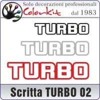 Scritta TURBO 02 (varie misure)