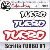 Scritta TURBO 01 (varie misure)