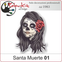 Adesivo Santa Muerte 01(Varie misure)