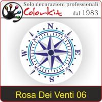 Adesivo Rosa Dei Venti 06
