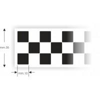 Striscia a scacchi cm.1 x 130