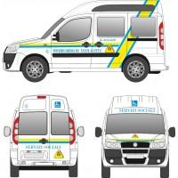 Adesivi Misericordia per auto medica
